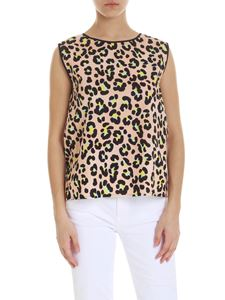 Jucca - Pink top with animal print