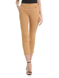 Patrizia Pepe - Camel-colored trousers with branded button