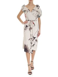 Vivienne Westwood  - Light grey asymmetrical Chinese Peony dress