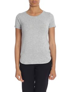 Majestic Filatures - T-shirt in light gray viscose
