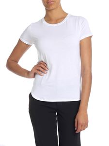 Majestic Filatures - Extra-fine t-shirt in white viscose