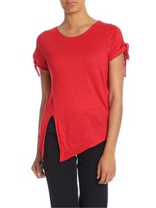Majestic Filatures - Red T-shirt with side bow