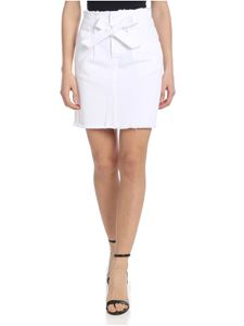 Federica Tosi - White mini skirt with belt