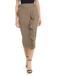 Max Mara - Uniparo pencil skirt in army green