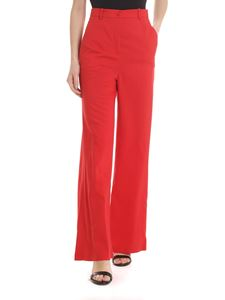 Patrizia Pepe - Palazzo trousers in red