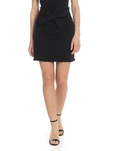 Federica Tosi - Black mini skirt with belt