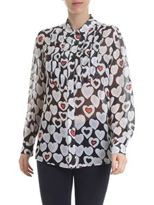Emporio Armani - Semi-transparent shirt with heart pattern