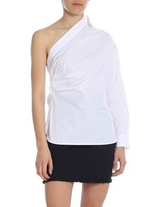 Max Mara - Jack one-shoulder shirt in white
