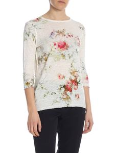 Avant Toi - Ivory t-shirt with floral print