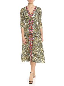 Saloni - Eve dress with animal print