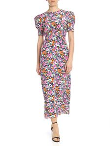 Saloni - White dress with multicolor floral print