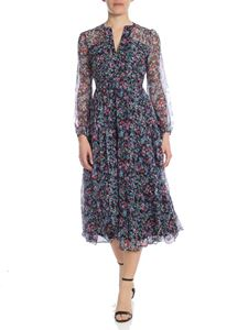 Saloni - Yasmeen midi dress in multicolor floral print