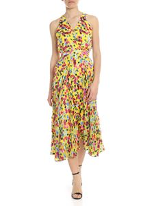Saloni - Rita dress in yellow with multicolor floral pattern