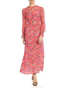 Saloni - Becky long dress in peach color