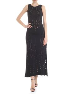 Pin-Up Stars - Long dress with black stars