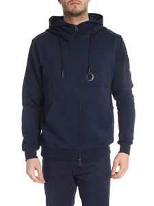 Rossignol - Hooded sweatshirt in blue with logo patch
