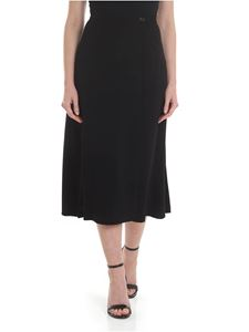Aspesi - Black wrap skirt