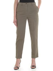 Aspesi - Cotton trousers in sage green color