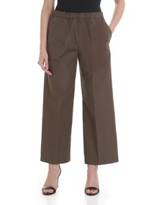 Aspesi - Wide trousers in mud color