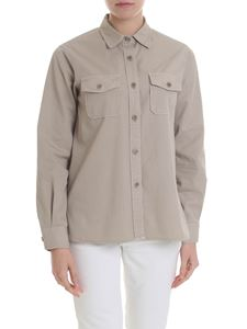 Aspesi - Taupe-colored shirt with pockets
