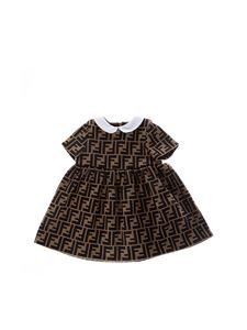 Fendi Jr - Abito FF in jersey marrone
