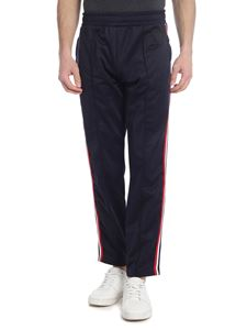 Rossignol - Blue trackpants with tricolor stripes