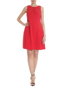 Emporio Armani - Red short dress with drapery