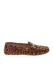 Tod's - Double T loafers with animal pattern