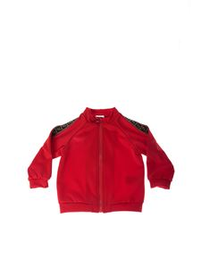 Fendi Jr - Red sweatshirt with FF motif bands