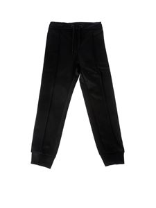 Fendi Jr - Black pants with FF motif bands