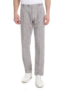 berWich - Barber houndstooth pants in white