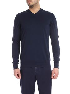 Fedeli - Supima cotton pullover in blue