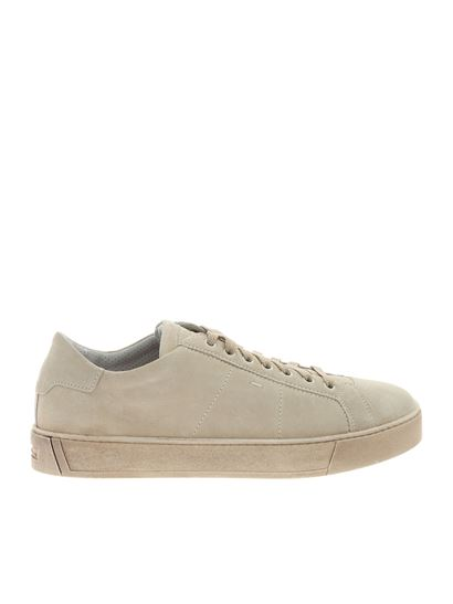 Santoni - Beige sneakers with logo on the tongue