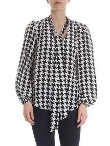 Rixo London - Moss blouse in pure white and black silk