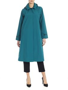 Save the duck - Recycled fabric coat in teal color