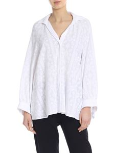 Dondup - Wide embroidered shirt in white