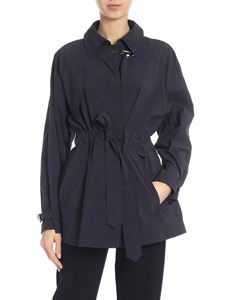 Fay - Trench in blue technical fabric