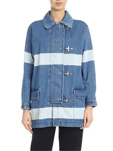Fay - Oversize denim jacket with stripes