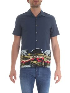 Paul Smith - Blue shirt with print on the bottom