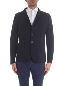 Herno - Single-breasted jacket in blue