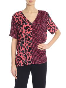 PS by Paul Smith - Multi pattern t-shirt in pink