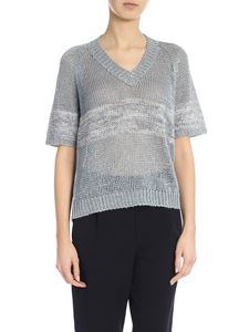 Lorena Antoniazzi - Openwork sweater with sequin inserts