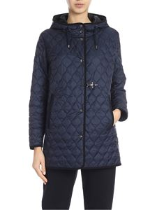 Fay - Quilted padded jacket in blue