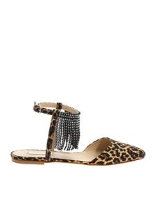 Polly Plume - Minnie sandals in beige with animalier print