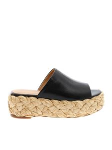 Paloma Barceló - Black leather Odile sandals