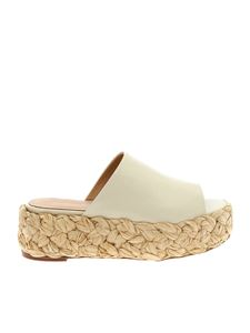 Paloma Barceló - Cream leather Odile sandals