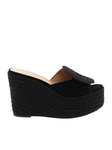 Paloma Barceló - Black suede Emna wedge
