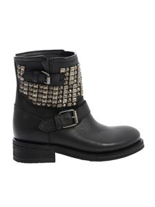 Ash - Black leather Tennesse ankle boots