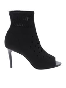 Ash - Black Heaven open toe ankle boots