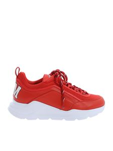 MSGM - Red leather Z Running sneakers